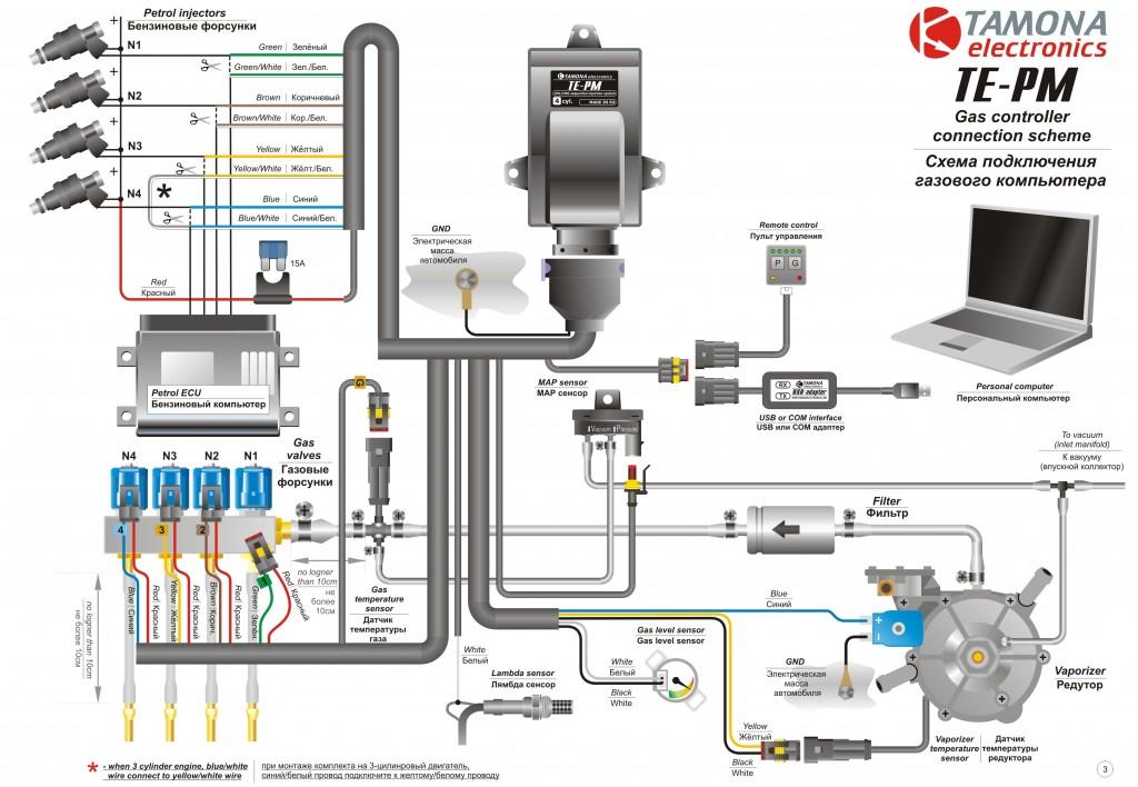Схема электрического монтажа TE-PM