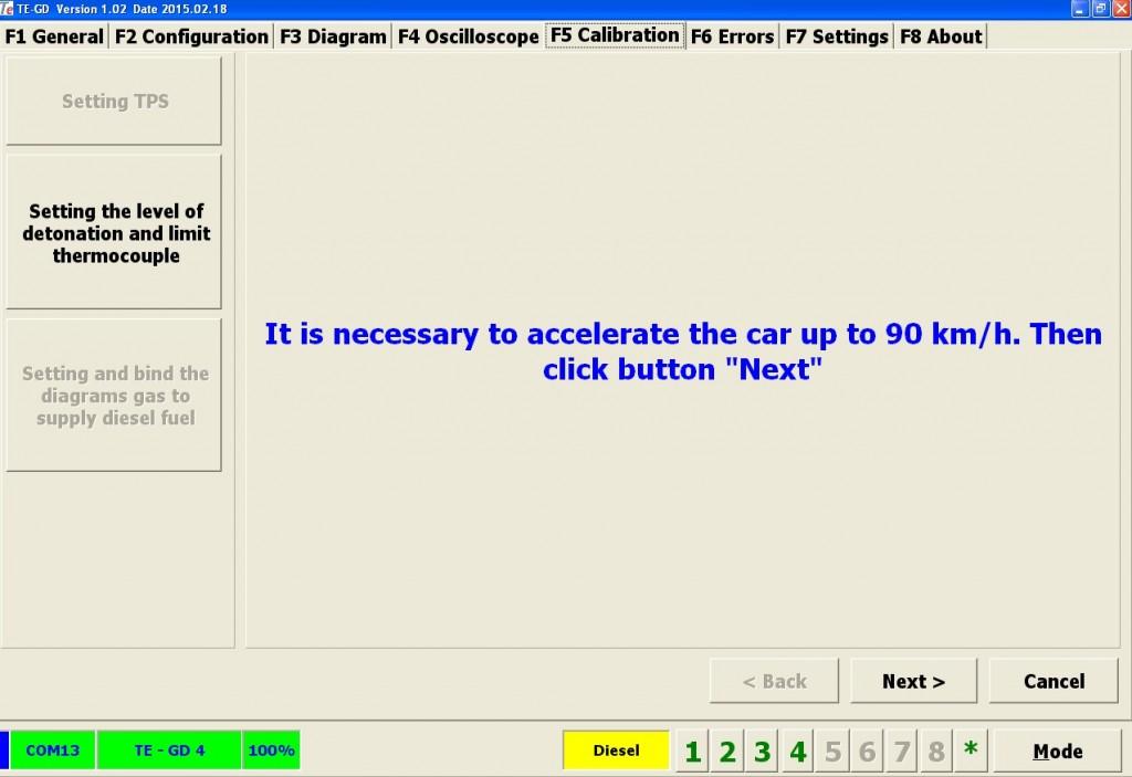 Определение максимальных значений сигналов датчика детонации и температуры выхлопа