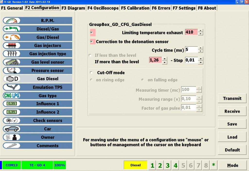 Данные максимальных значений участвуют в автоматике ограничения подачи газа