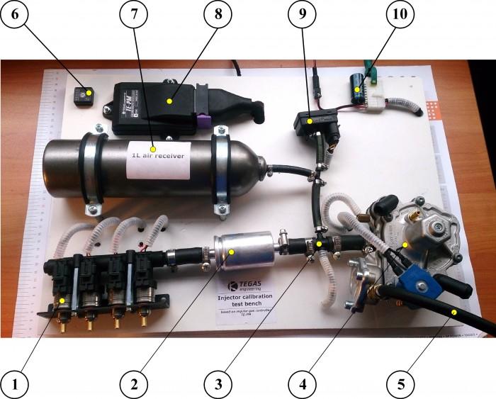 Стенд для исследования характеристик газовых форсунок на базе газового компьютера TE-PM и программы TEGAS-5
